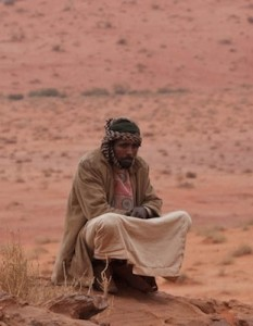 Muslim in the desert