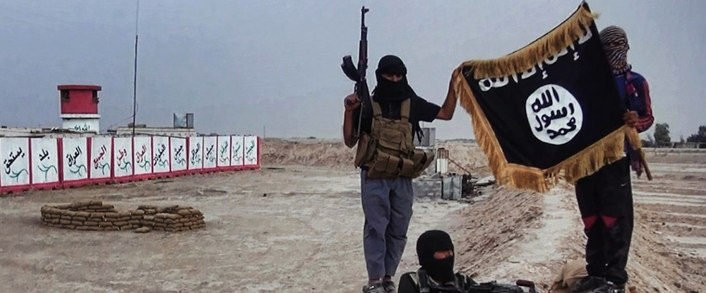 ISIS Men with flag